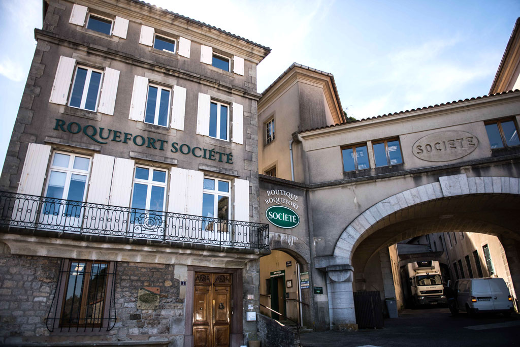 La ville de Roquefort-sur-Soulzon