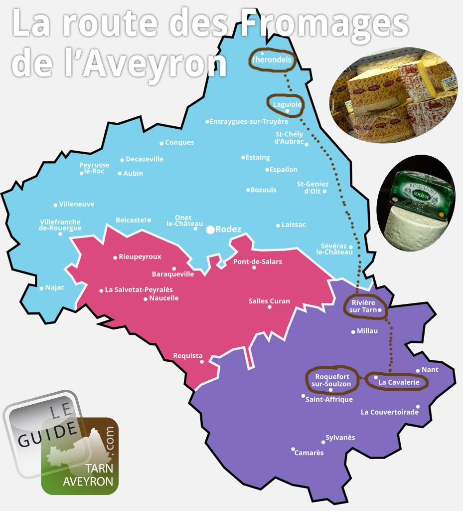 La route des fromages en Avyeron