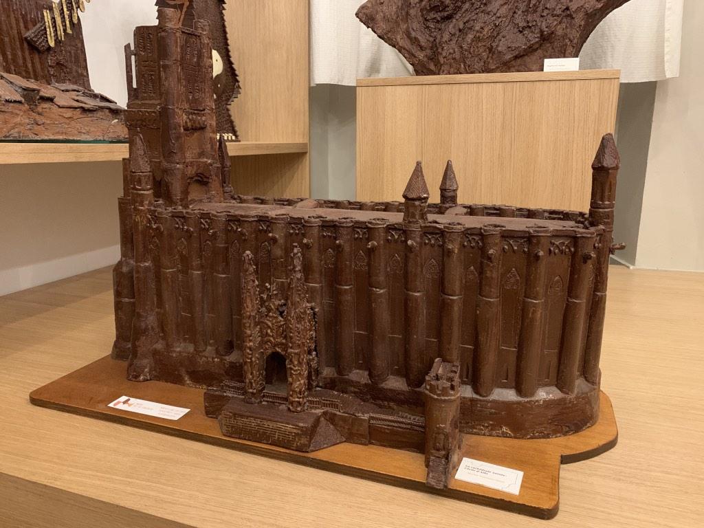 Sculpture cathédrale en chocolat