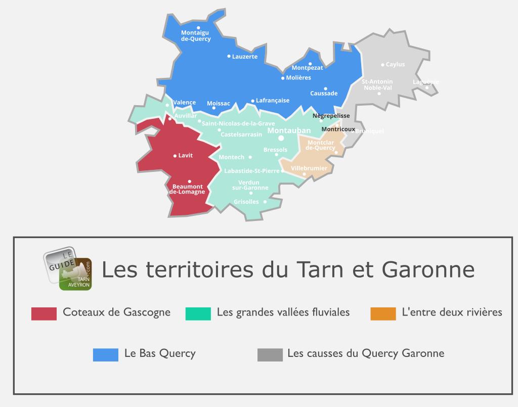 Carte du Tarn-et-Garonne, Les Coteaux de Gascogne