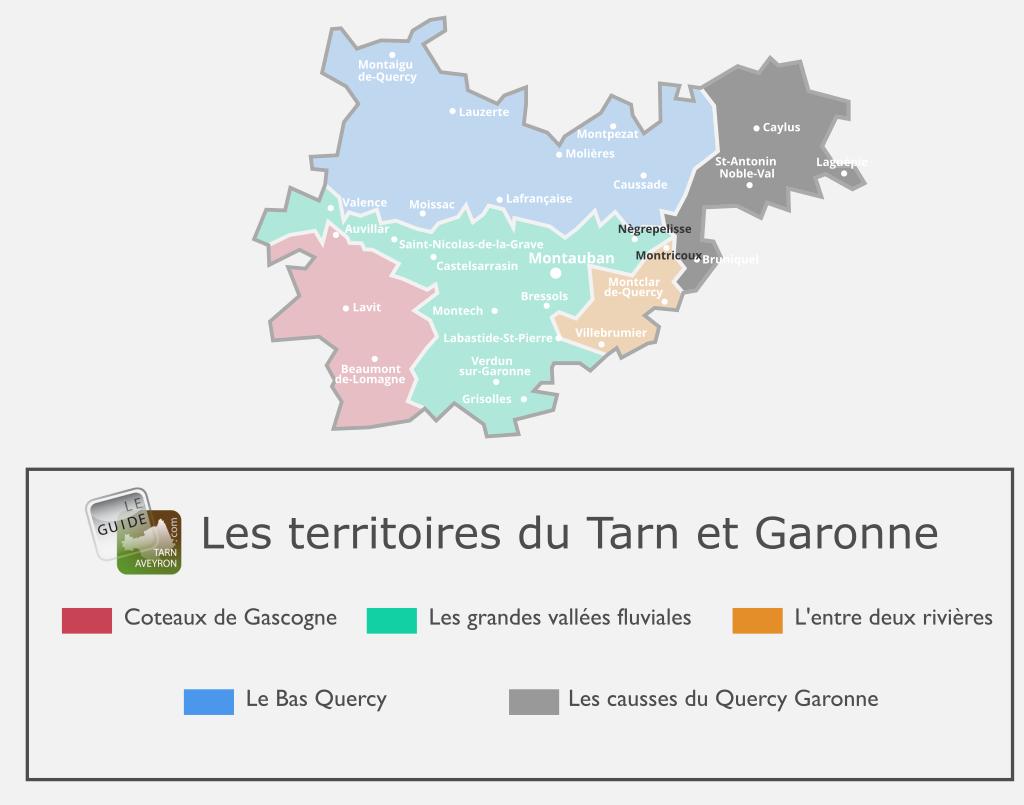 Carte du Tarn-et-Garonne, Les Causses du Quercy Garonne