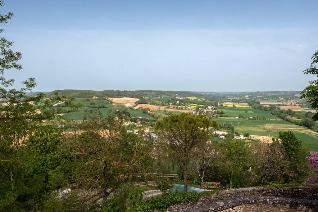Le magnifique panorama de Lauzerte